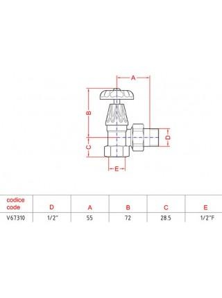 Дизайнерские клапаны для радиаторов Carlo Poletti | Угловой | Оригинал