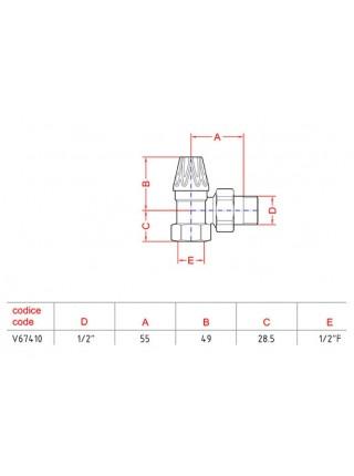 Запорный клапан Carlo Poletti | Угловой | Оригинал