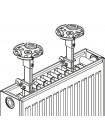 Универсальный напольный кронштейн для панельных радиаторов | Консоль напольная для стального радиатора