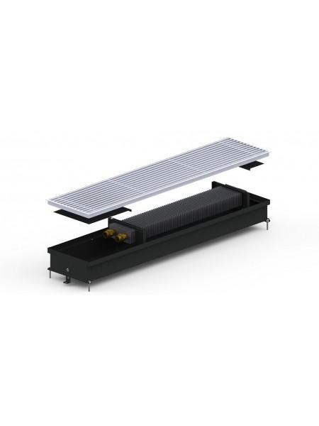 S (C)/S2 (C2) Inox/Black 90/120 | Внутрипольные конвектора CARRERA без вентилятора