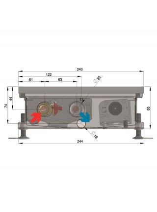 COIL-TO85 | Внутрипольные конвектора MINIB с вентилятором