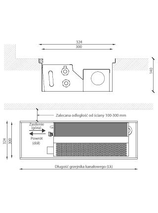 Внутрипольный конвектор Verano VKN5 (NEW) с вентилятором для низкотемпературных систем